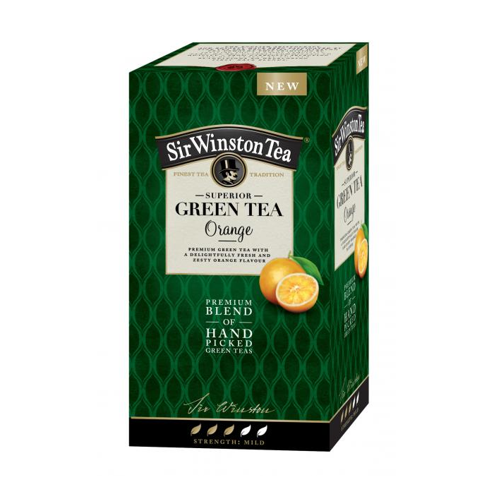 Čaj SIR WINSTON Green Tea Orange 35g
