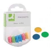 Magnety Q-connect 20mm mix farieb 6 ks